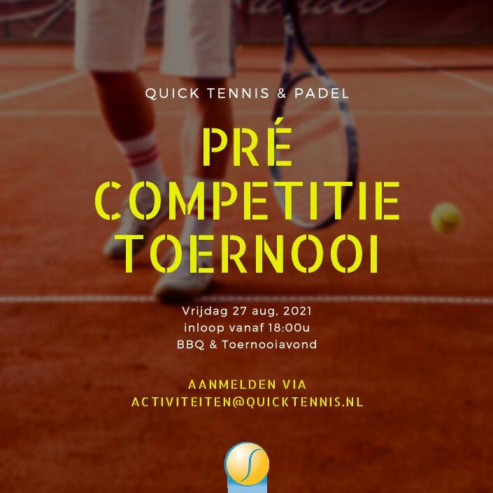 Meld je aan voor de pre-competitie toernooiavond!