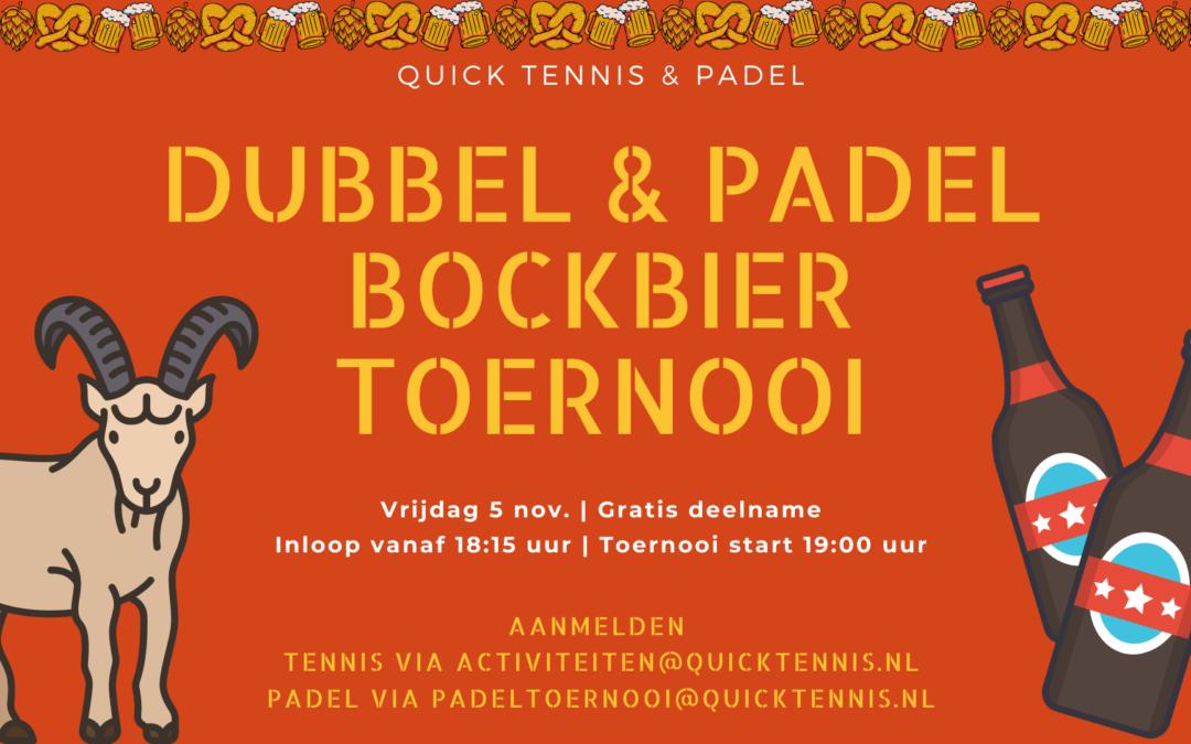 Dubbel & Padel Bockbiertoernooi op 5 november